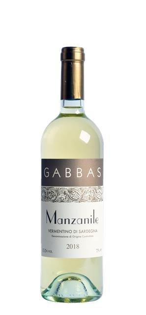 2018 Vermentino di Sardegna Manzanile (0,75L) - Gabbas