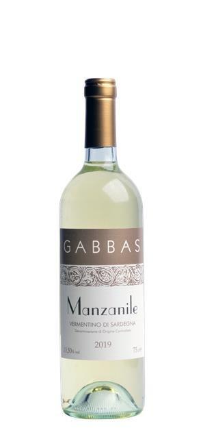 2019 Vermentino di Sardegna Manzanile (0,75L) - Gabbas